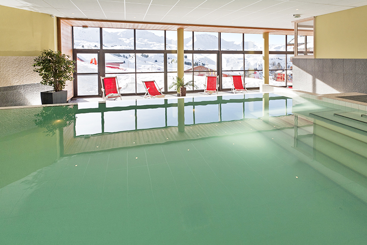 Belle Plagne, mmv Residence Club Le Centaure, French Alps, Savoie, pool