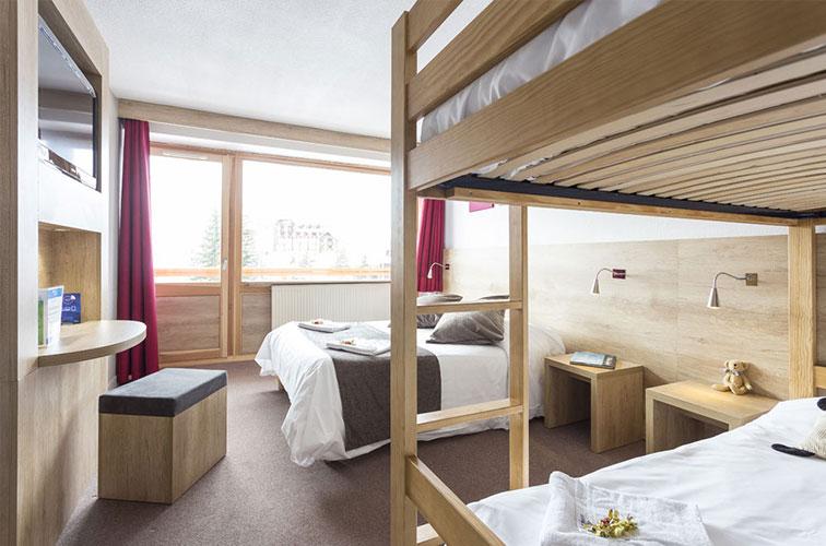 réservation chambre 2 à 5 personnes hôtel Les 2 Alpes