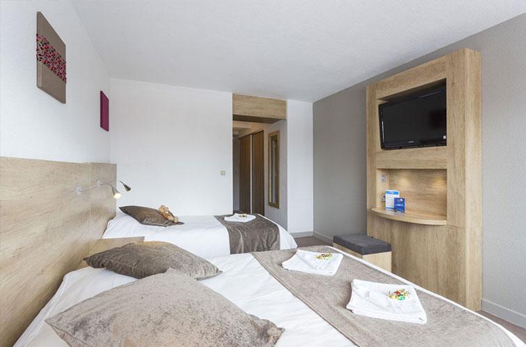 Les chambres de l'hôtel Les 2 Alpes