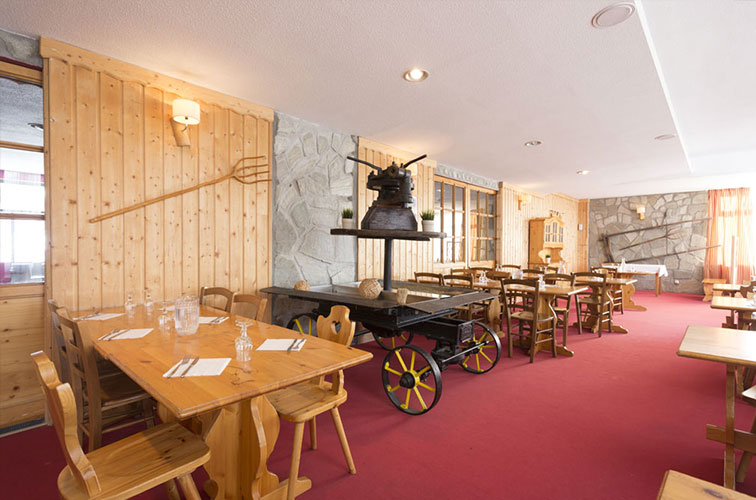 Restaurant savoyard Hôtel Club Les 2 Alpes