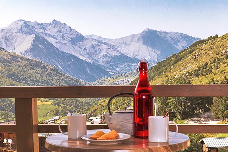 résidence menuires vue montagne