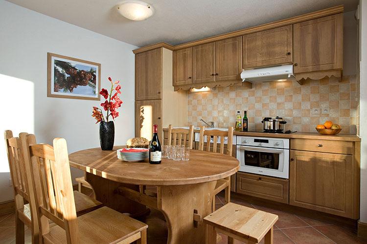 Montgenèvre résidence club mmv**** le hameau des airelles, cuisine