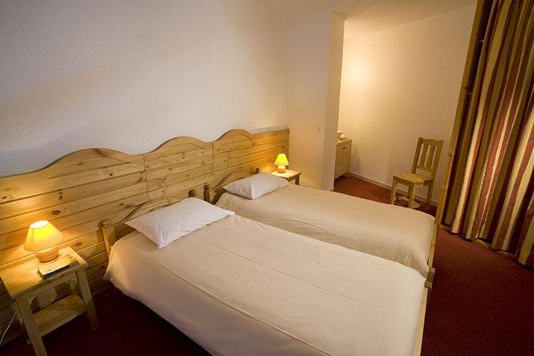 Plagne Montalbert hôtel club les sittelles chambre