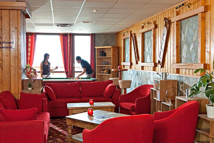 Plagne Montalbert hôtel club les sittelles salon