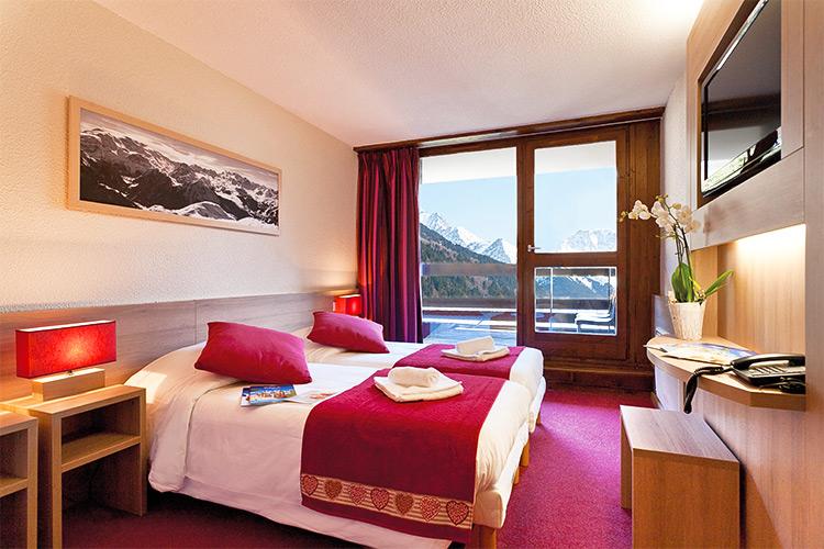 Des chambres confortables avec vue sur les montagnes