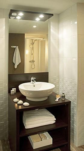 Hôtel Club mmv Saint-Gervais Mont-Blanc, Le Monte Bianco, Haute-Savoie, salles de bains
