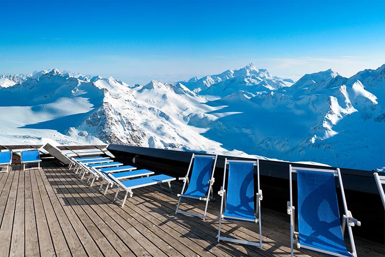 Hôtel Club mmv Saint-Gervais Mont-Blanc, Le Monte Bianco, Haute-Savoie, terrasse