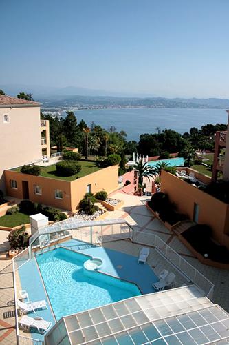 Résidence Détente Théoule, Horizon bleu, Théoule-sur-mer, piscine chauffée