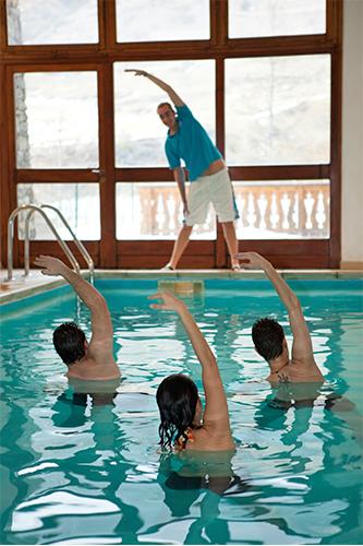 séance aquatique hôtel Val Cenis