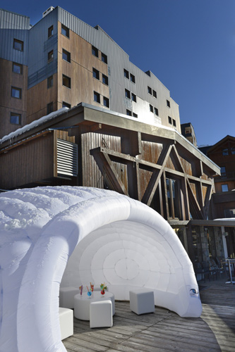 mmv Hotel Club Val Thorens, Les Arolles, Savoie, french Alps, terrace
