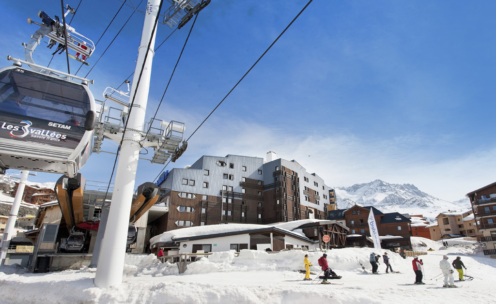 mmv Hotel Club Val Thorens, Les Arolles, Savoie, french Alps, ski lift