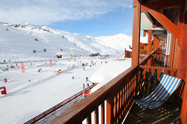 mmv Hotel Club Val Thorens, Les Neiges, Savoie, french Alps, balcony view slopes