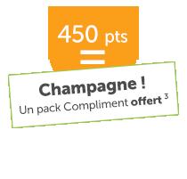 Bon cadeau Pack Compliment offert