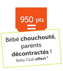 Baby Club offert 950points