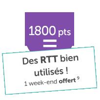 Un week-end offert 1800points