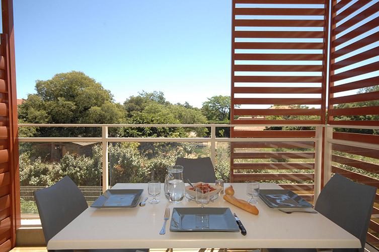 balcon ou terrasse en résidence été à Argelès
