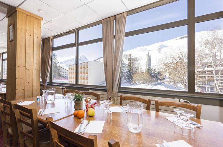 mmv Hotel Club Les 2 Alpes, Le panorama, Les deux Alpes, Isère, French Alps, restaurant