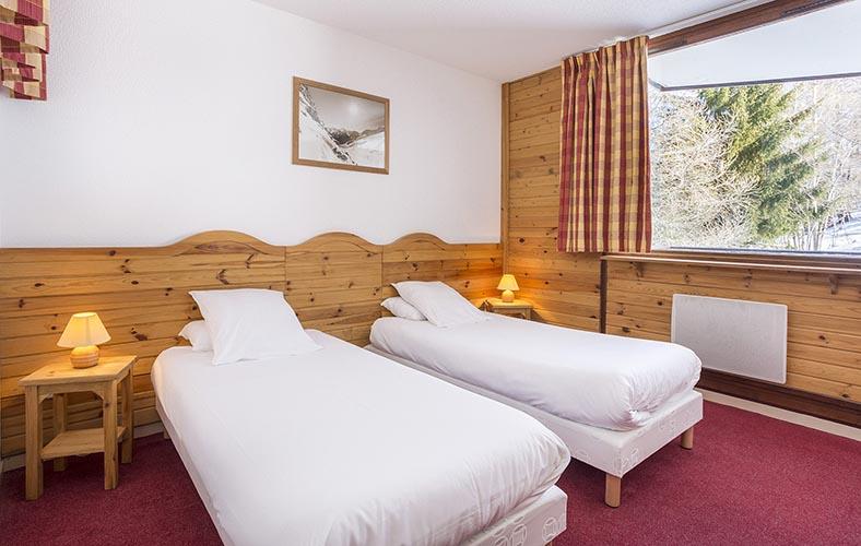 mmv hotel club Plagne Montalbert, les sittelles, Savoie, French Alps, rooms