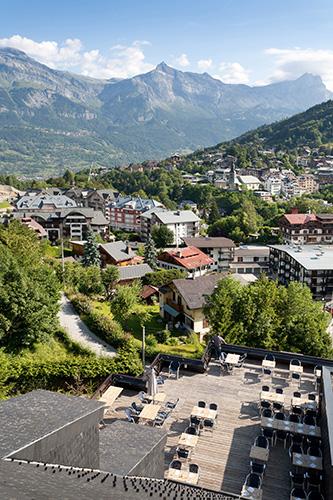 mmv Hotel Club Saint-Gervais Mont-Blanc, le monte bianco, Haute Savoie, terrace
