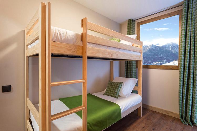 Tignes 1800 altaviva chambre lit superpose enfant