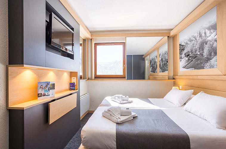 hotel club tignes room