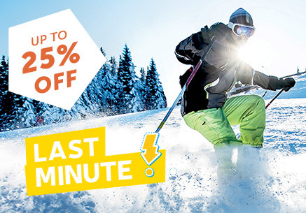LAST MINUTE : UP TO 25% OFF